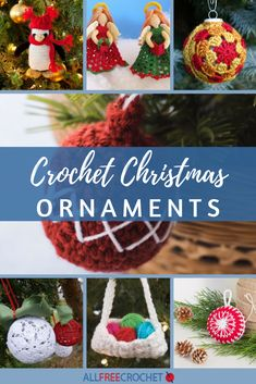 Check out these free Christmas crochet patterns for ideas on holiday home decor and easy holiday crafts including crochet Christmas trees! Crochet Christmas Wreath, Crochet Ornaments, Christmas Crochet Patterns, Holiday Crochet, Knit Patterns, Crochet Angel Pattern, Christmas Items, Xmas Decorations, Holiday Crafts