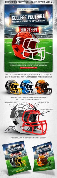 Football Game Flyer + Instagram Promo | Event Flyers, Flyer