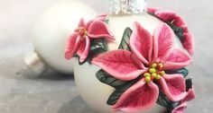 Polymer Clay Ornaments, Polymer Clay Christmas, Polymer Clay Canes, Polymer Clay Necklace, Polymer Clay Flowers, Polymer Clay Pendant, Polymer Clay Projects, Handmade Ornaments, Diy Christmas Ornaments