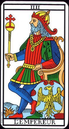 Carta de #tarot ligada à #áries: O Imperador