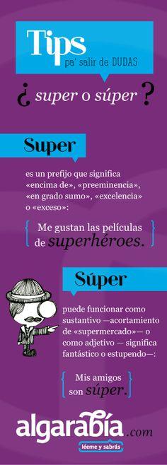 ¿Super o súper?