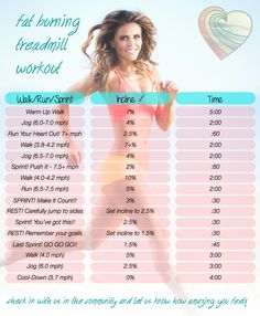 Fat-burning treadmill workout