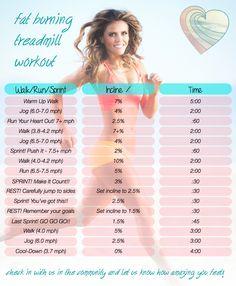 Fat-burning treadmill workout