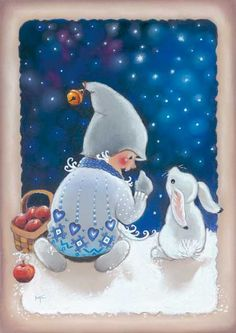 by Kaarina Toivanen Christmas Feeling, Christmas Fairy, Christmas Clipart, Vintage Christmas, Christmas Cards, Illustration Noel, Winter Illustration, Christmas Illustration, Illustrations