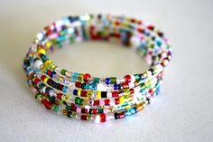 Yellow Blackbird: A Creative Blog: Colorful Spiral Bracelet