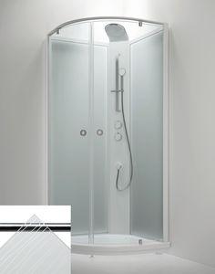 Suihkukaappi Sanka BRIC 4 910x910 mm valkoinen/lasi kontur ja frost Frost, Lockers, Locker Storage, Bathtub, Cabinet, Bathroom, Furniture, Design, Home Decor
