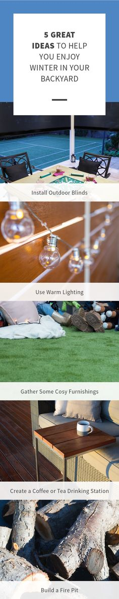 How To Build A Fire Pit, Outdoor Blinds, Cold Weather, Cosy, Outdoor Living, Backyard, Warm, Winter, Winter Time