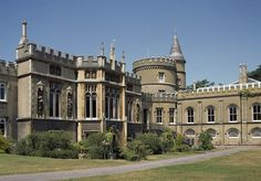 """Strawberry Hill, Horace Walpole's little Gothic castle in Twickenham, 10 miles outside London, before the 2012 renovation. The building evolved similarly to how a medieval cathedral often evolved over time, with no fixed plan from the beginning. Indeed, Michael Snodin of the V & A argues, """"the most striking external feature of Strawberry Hill was its irregular plan and broken picturesque silhouette"""". Walpole added new features over a thirty-year period, as he saw fit."""
