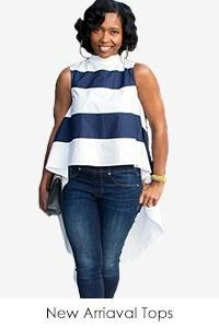 Navyblue/White Contrast Color Striped Sleeveless Tops Tee Hot Summer Woman Casual O Neck Fashion Hi-lo Tops Wholesale Online Black One Piece Jumpsuit, Two Piece Pants Set, Red Wigs, Two Piece Swimwear, Floor Length Dresses, African Fashion, Plus Size, Sleeveless Tops, Women's Tops
