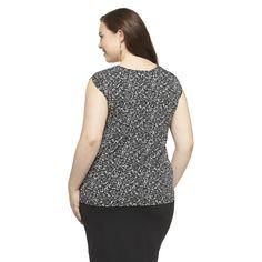 Women's Plus Size Sleeveless Blouse-Pure Energy