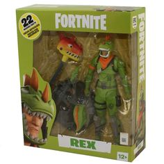 McFarlane Toys Action Figure - Fortnite Battle Royale - REX inch) - New Game Of Survival, Epic Fortnite, Brand Stickers, Epic Games Fortnite, Alien Vs Predator, Sideshow Collectibles, Toy Sale, Action Figures, Battle