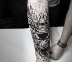 Dotwork tattoo by Otheser Tattoo
