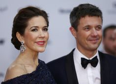 Danish Crown Prince Frederic and his wife Crown Princess Mary arrive on the red carpet for the Bambi 2014 media awards ceremony in Berlin. November 13, 2014.