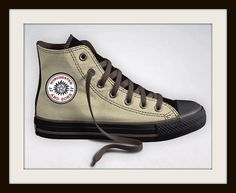 Custom Designed Supernatural Anti-Possession Symbol Inspired Converse Sneakers, All Star High-Tops, Charm, Dean Sam Winchester Logo Spoof