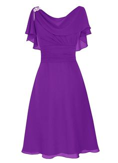 Dresstells® Scoop Chiffon Backless Prom Dress Evening Dress Evening Party Dress: Amazon.co.uk: Clothing