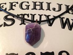 Amethysts  necklace  Chakra Healing Necklace by TriquetraBoutique