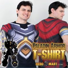 Salutations my fellow Paladins! The gods shine brightly upon us today with the arrival of the Paladin Armor T-Shirt! Unlike clunky heavy chainmail, this Armor is lightweight and protective, made from the strongest Holy Cotton in all of Lore. And when thy equips this noble armor piece, you shall receive the Purified Caladbolg Blade in AdventureQuest Worlds! Get yours at http://www.heromart.com/products/pre-order-paladin-t-shirt