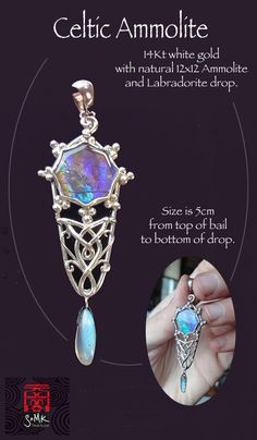 somk's Celtic Ammolite pendant - adore this!