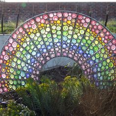 North Lincolnshire Council commissioned Gillian to create a sculpture for the refurbished garden at The Cygnets, a respite care home for children with severe learning disabilities.   Based on the theme of a rainbow chosen by staff and children, the sculpture forms the centrepiece of the newly refurbished site, located in the sensory garden.
