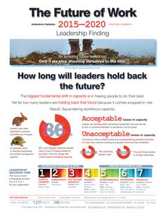 One-pager, detailing 1st finding: Many leaders are holding back the future because it comes wrapped in risk