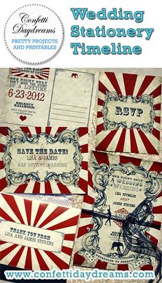 Invitation info.                          Wedding Stationery Timeline - Before creating your wedding stationary, refer to our Wedding Stationary Timeline to guide you to creating the perfect wedding stationary to present to your guests.