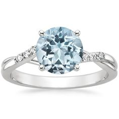 Dream ring ❤️ Aquamarine Chamise Ring in 18K White Gold