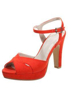 Anna Field High Heel Sandaletten red Schuhe bei Zalando.de | Obermaterial: Textil, Innenmaterial: Lederimitat, Sohle: Kunststoff, Decksohle: Lederimitat | Schuhe jetzt versandkostenfrei bei Zalando.de bestellen!
