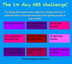 Abs!  Doing this!