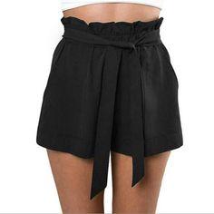 Women Lady High Waist Shorts Loose Summer Pants Beach Hot Shorts With Belt Vest #ebay #Fashion