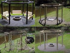 DIY Patio Idea. i'm so making my husband build this for us this summer.