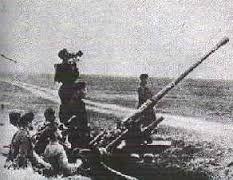 Cañon antiaereo de 3.7cm en la campaña de Polonia