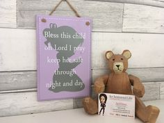 Little girl, girls bedroom sign, Gift for a new baby g Prayer Verses, Prayer Quotes, Sign Quotes, Painted Wooden Signs, Wooden Plaques, Bedroom Signs, Bedroom Decor, New Baby Girls, Little Girls