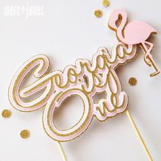 Flamingo Cake Topper Party Decoration by MercAndJones on Etsy https://www.etsy.com/listing/254191148/flamingo-cake-topper-party-decoration