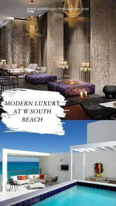 South Beach, Miami Beach, Beach Honeymoon Destinations, Florida Sunshine, Hotel Lobby, Hotel Wedding, Modern Luxury, Trip Planning, Spa