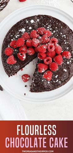 Flourless Chocolate Cake is the perfect dessert for any celebration! Fall in love with this homemade Valentine treat covered in a silky chocolate ganache glaze. A gluten-free and decadent Valentine& Day food idea that is easy to make! Pin this for later! Amazing Chocolate Cake Recipe, Best Chocolate Cake, Chocolate Recipes, Homemade Chocolate, Chocolate Lovers, Easy Cake Recipes, Dessert Recipes, Simple Recipes, Free Recipes