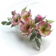 SAMPLE SALE fabric roses bridal headpiece silk rose hair