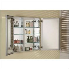 Afina DD 2519 R BRD-BV Broadway Double Door Medicine Cabinet by Afina Corporation. & Golden Elite CACMC2W Double Door Carrera Medicine Cabinet ...