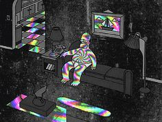 Homer Home tripping gifs gif cool images trippy comedy homer simpson trip hallucinate wow simpson gifs