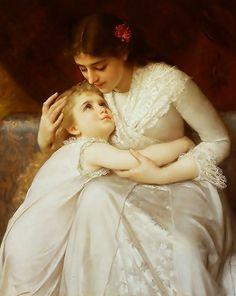 m Emile Munier (French Academic Painter, 1840-1895) Pardon_Mama_-_Emile_Munier