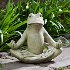 With Humor And Charm, Meditating Frog Garden Statue Made Of Cast Stone  Reminds You To Take A Break, Relax, And Smile A Little!