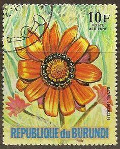 FLOWER on vintage postage stamps