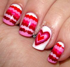 Nails for valentines day!
