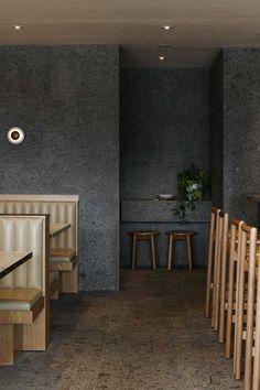 Viet Next Door: Vietnamese Tapas Bar in Adelaide by Genesin Studio | Yellowtrace Australian Interior Design, Interior Design Awards, Restaurant Design, Restaurant Bar, Upholstered Bench Seat, Small Restaurants, Granite Flooring, Bar Seating, Tapas Bar