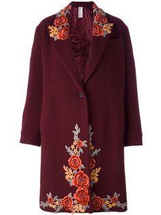 ANTONIO MARRAS embroidered single breasted coat. #antoniomarras #cloth #coat