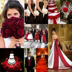 Red Themed Weddings Reception Ideas