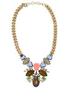 Joyas preciosas:  Collar de hojas con cristales de fantasía, de J. Crew para Net-a-Port...