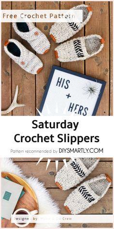 Saturday Crochet Slippers - Free Pattern #crochetslippers #freepattern #crochet #slippers