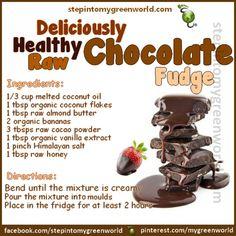 Deliciously Healthy Raw Chocolate Fudge