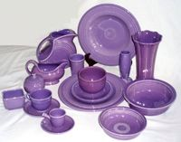 Fiestaware in Lilac -- I so wish they still made this color!  Would look so beautiful with Lemongrass.