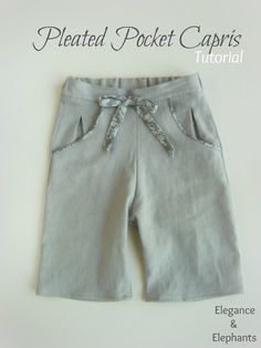 Heidi from Elegance and Elephants: Pleated Pocket Capris {tutorial} - The Sewing Rabbit